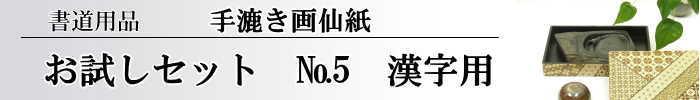 【画仙紙 お試しセット】 NO.5 16枚