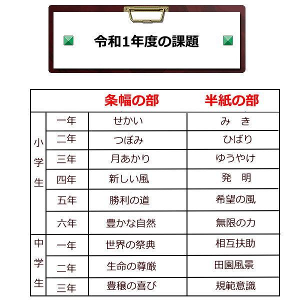令和1年度JA共済書道コンクール作品用書道半紙は野菊がお勧め