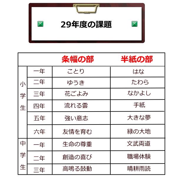 29年度JA共済書道コンクール作品用書道半紙は野菊がお勧め