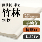 手漉き画仙紙 竹林 20枚