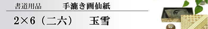 【画仙紙 2x6(二六)】 玉雪10枚