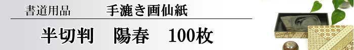 【画仙紙 半切】 陽春100枚